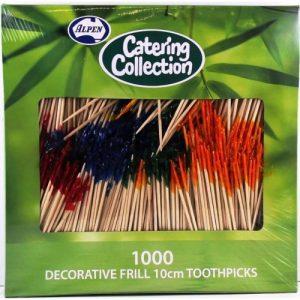 Alpen Party Decorative Frill 10cm Toothpicks Pk1000