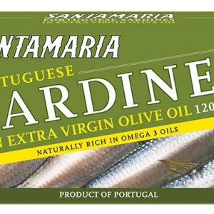 Santamaria Sardines Extra Virgin Olive Oil 120gr Ctn of 12
