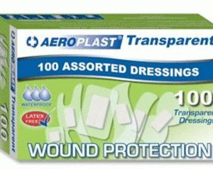 AEROPLAST__TRANSPARENT_ASSORTED_PLASTERS_PK100