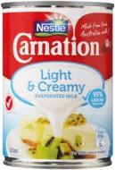 Carnation Light & Creamy Evaporated Milk 375mL