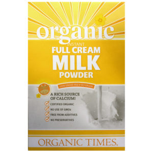 ORGANIC TIMES INSTANT FULL CREAM MILK POWDER 350GR