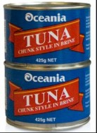 Oceania Tuna Chunks in Brine 425gr