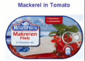 RUGEN MACKEREL IN TOMATO SAUCE 200GR CTN OF 16