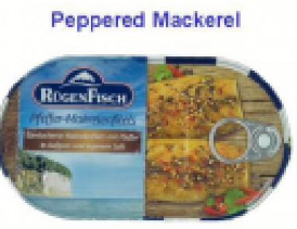 RUGEN PEPPERED MACKEREL FILLETS IN OIL 200GR CTN 16