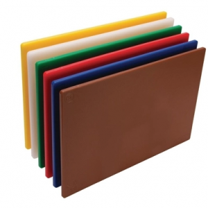 Hygiplas Standard Low Density Chopping Board Set 6pk