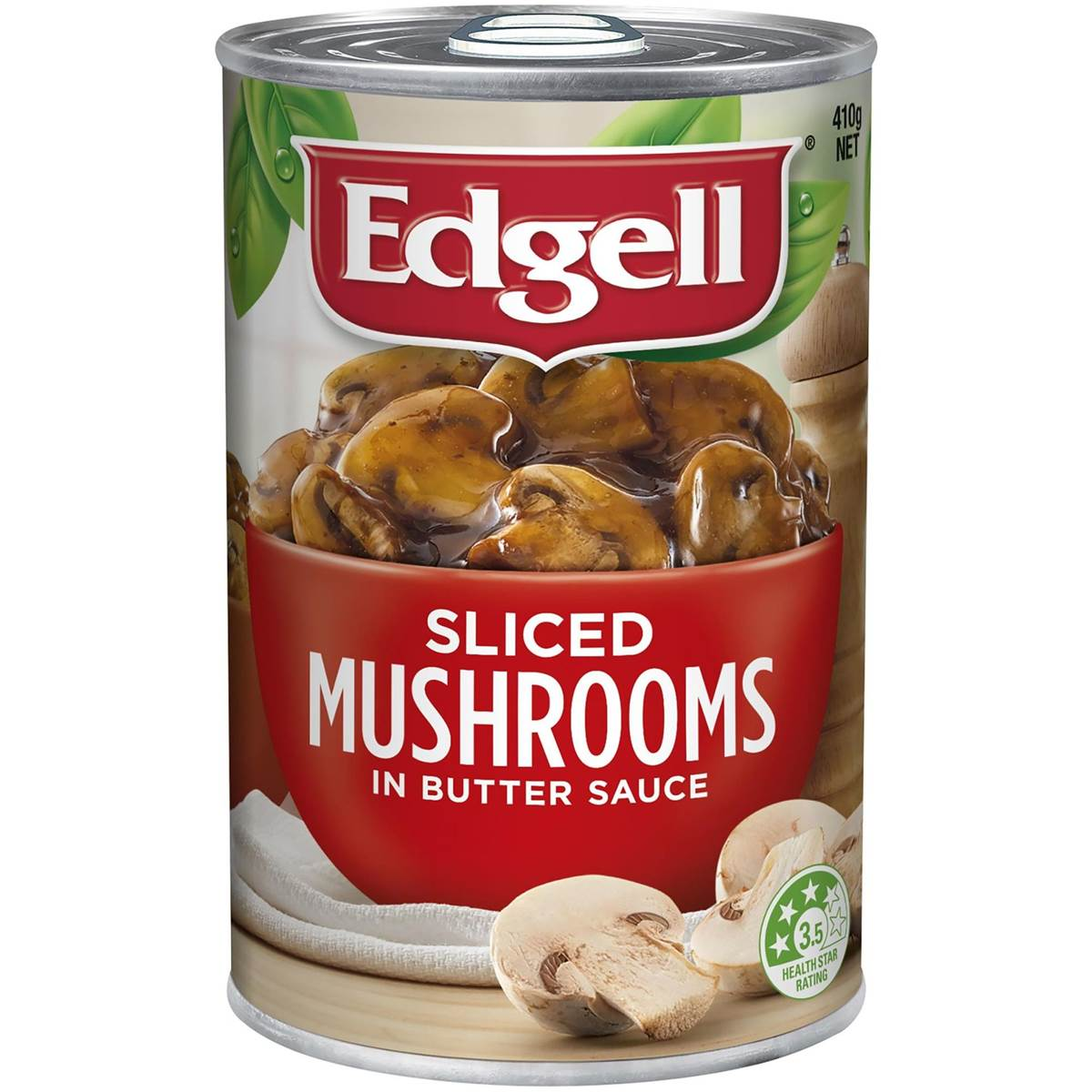 Edgell Sliced Mushrooms in Butter Sauce 410 gram