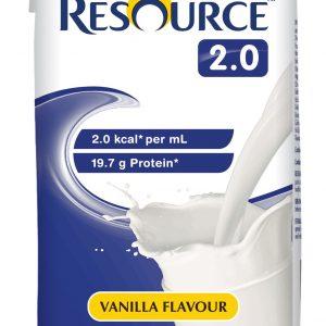 NESTLE HEALTH SCIENCE RESOURCE 2.0 VANILLA 237ML CTN OF 12
