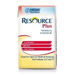 NESTLE HEALTH SCIENCE RESOURCE PLUS VANILLA 237ML CTN OF 12