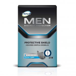 TENA MEN PROTECTIVE SHIELD BLACK PKT 14 CTN OF 3