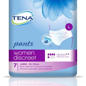 TENA WOMEN PANTS DISCREET LARGE PKT OF 7 CTN OF 4