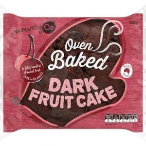 COMMUNITY CO FRUIT CAKE DARK 800GR CTN OF 6