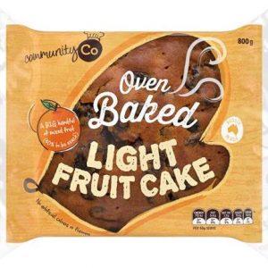 COMMUNITY CO FRUIT CAKE LIGHT 800GR CTN OF 6