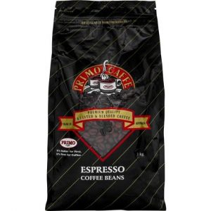 PRIMO CAFE ESPRESSO BLEND COFFEE BEANS 1KG BAGS CTN OF 6