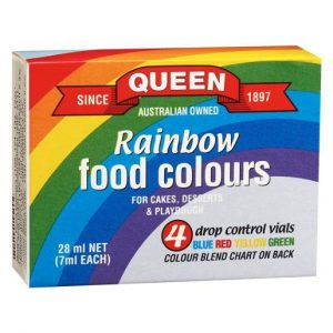QUEEN RAINBOW FOOD COLOUR 7ML PACK OF 4