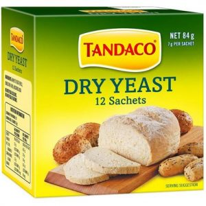 TANDACO DRY YEAST SACHETS 7GR CTN OF 12