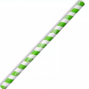 BIOPAK JUMBO GREEN STRIPED PAPER STRAWS CTN OF 2500