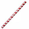 BIOPAK JUMBO RED STRIPED PAPER STRAWS CTN OF 2500