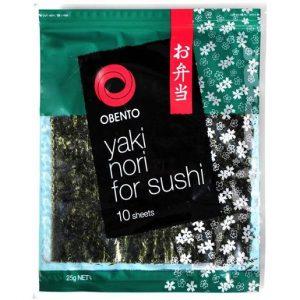 OBENTO YAKI NORI SUSHI SHEETS 25GR CTN OF 10