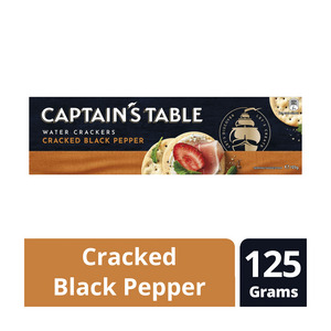Nabisco Captains Table Crackers Cracked Pepper 125gr