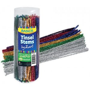 Chenille Tinsel Assorted Pk 150