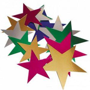 Foil Stars Assorted Pk 50