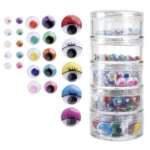 Joggle Eyes Coloured Pk 450