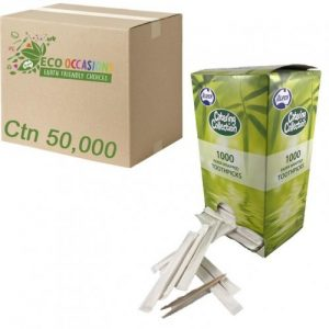 Alpen Toothpick Individually Paper Wrapped Ctn 50000