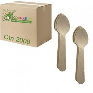 Alpen Wooden Tea Spoons 110mm Ctn2000