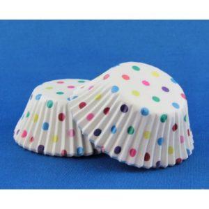 Cup Cake Cases Rainbow Polkadot