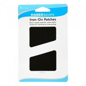 Iron Patches Black Pk2 Ctn of 5