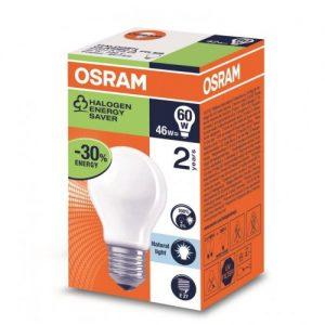 Osram Halogen Edison Screw Frosted 46w Box 20