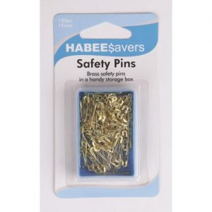 Safety Pins Brass