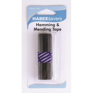 Tape Fusible Hemming 20mmx2m Black Pk1 Ctn of 5
