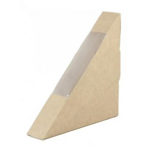 Window Sandwich Box Brown 123x123x26mm Ctn of 500