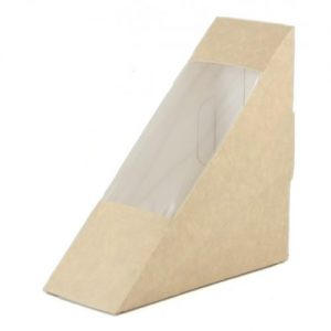 Window Sandwich Box Brown 123x123x52mm ctn 500 ctn